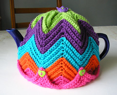 Easy Ripple Tea Cosy (Karla's Making It) Tags: coffee tea crafts crochet yarn teacozy cupcozy