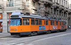 Milano, Piazza Cordusio 26.08.2008 (The STB) Tags: milan fiat milano tram 4900 atm tramway tranvia stanga aziendatrasportimilanesi atm4900