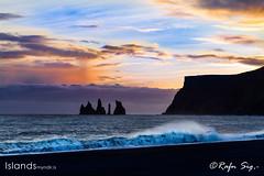 Pillar of rocks in the twilight