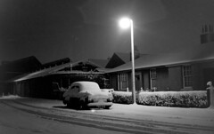 Chesser Grove 1969 (eLaReF) Tags: bw snow 1969 church night blackwhite edinburgh chesser stenhousesaughton chesseravenue