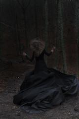Into the darkness / The dark path (pasotraspaso) Tags: black beauty lady dark nikon forrest path run terror d610