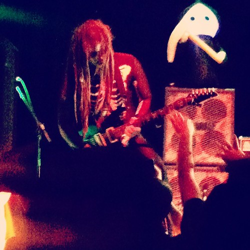 JP of #Hammerlord #shredding tonight at #uptown theater for #hammerween in #kansascity