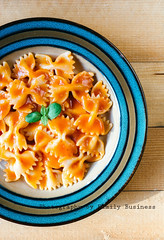 Pasta time (Uros Zunic (Belgrade photography guid, contact me)) Tags: life above red italy food tomato spiral lunch cuisine restaurant wooden still healthy italian mediterranean dish sauce background spice tasty plate vegetable pasta carbohydrate portion tradition cooked nutrition ingredient fusilli