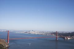 Golden Gate Bridge, Marin Headlands (yuichi.sakuraba) Tags: sf sanfrancisco blue sea sky scenery goldengatebridge    ggb