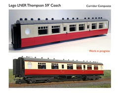 Lego LNER Thompson 59' Coach WIP (michaelgale) Tags: coach lego wip passenger thompson moc britishrailways lner