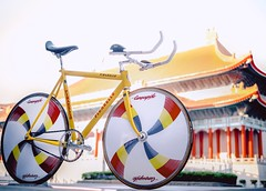 PINARELLO Crono 1996 / Taipei (father TU) Tags: track bio pro 650 fixie fixedgear taipei ultra saddle aero pinarello campagnolo crono quartetto 3ttt corima fathertu corimaultrapro