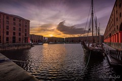 Albert Sunrise (chrispenfold) Tags: uk england reflection liverpool sunrise dock ship albert maritime merseyside