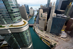 City Below (Andy Marfia) Tags: chicago architecture buildings cityscape iso400 lakemichigan trumptower chicagoriver ibmbuilding f8 downward rivernorth sigma1020mm 1160sec d7100 openhousechicago ohc2014
