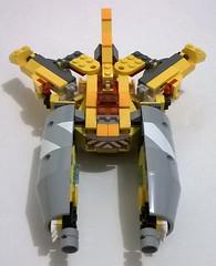 legoformer clashfire (cement mixer + yellow mixels) (ezrawibowo) Tags: robot lego transformers scifi mecha moc combiner legoformer