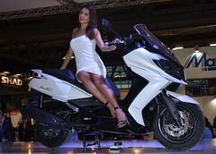 Eicma 2014 Model (398) (Pier Romano) Tags: woman sexy girl beautiful model legs milano babe salone moto motorcycle belle donne hostess bella brunette bruna bellezza fiera gambe ciclo kymco esposizione rho 2014 ragazze modelle eicma