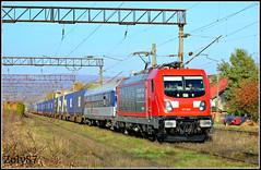 187 009 (Zoly060-DA) Tags: red electric train romania locomotive bo 187 freight 009 traxx simeria
