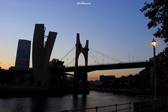 The bridge 2 (escotxe) Tags: bridge blue puente atardecer bilbao ocaso ria bilbo