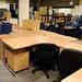 Selection of curved office desks