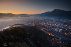 Grenoble - Sunrise (chente38) Tags: ifttt 500px grenoble ise france isère rhônealpes city alps alpes japan sunrise mountain mountains snow sky