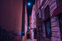 Untitled (elsableda) Tags: night urban city istanbul elsa bleda midnight buildings light moon lights shadow lines