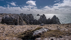 Rocky (Ruth Flickr) Tags: 2016 breton brittany easter europe finistère france lorrainecross monumentauxmorts pointedepenhir spring ww2 cliffs cloud coast flare granite holiday jagged rocks sun explored explore explore171 171
