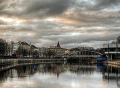 tartu in the blue hour (neilalderney123) Tags: ©2017neilhoward tartu estonia landscape cityscape coulds olympus river reflexions