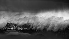 bouleversement (glookoom) Tags: bw blackandwhite noiretblanc nature nuage paysage montagne merdenuages lumière landscape contraste chamrousse france alpes