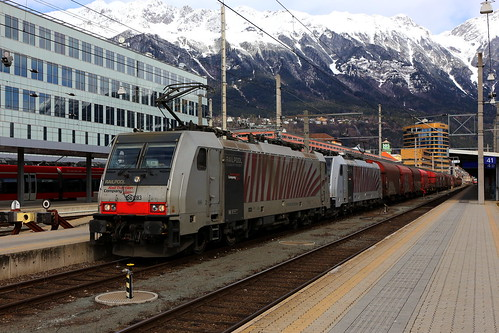 Lokomotion 186 283-8 und 186 282-0 Stahlzug, Innsbruck Hbf