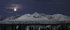 801_Panorama1 (Ed Boudreau) Tags: alaska alaskalandscape landscape landscapephotography winter winterscene winterscape denali mtdenali mtmckinley denalirange denalistatepark moon fullmoon wintermoon moonoverdenali snow mountains alaskamountains mountainrange usa