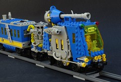 classic workhorse (legoalbert) Tags: lego space classic ncs retro train moc gun turret