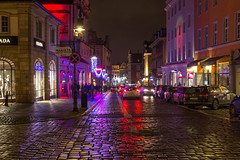 Paderwskiego by night (pawel.strzyz) Tags: poznan poznań lights reflections christmasornaments winter 600d 1750 28 canon