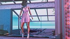 Beyond the blue (3XIS) Tags: addams barberyumyum blog blogger blogging exis fashion glowstudio lelutka mandala photography pink secondlife serein styling summer zoom