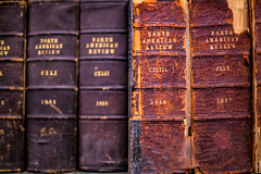Old Books (IRRphotography) Tags: books library book connecticut ct statelibrary bokeh depthoffield leather journal review american northamerican used