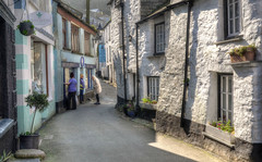 The narrow streets of Polperro, Cornwall (Baz Richardson (trying to catch up again!)) Tags: cornwall polperro lansallosstreet narrowstreets oldhouses