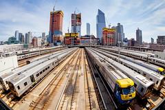 Develop (Tim Drivas) Tags: newyorkcity nyc hudsonyards railroad trains development manhattan trainyard construction skyline gothamist fisheye wideangle buildings