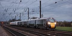 800004 & 800006 Copmanthorpe 17/03/2017 (Flash_3939) Tags: 800004 800006 gwr hitachi class800 bimode iep green white livery pair copmanthorpe ecml eastcoastmainline maiden run first rail railway train uk march 2017