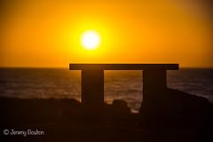 A place for contemplation (JKmedia) Tags: sunset beach bench seat empt peaceful sun sky coast sea cornwall lizard churchcove boultonphotography 2017
