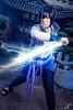Sasuke (WorldXPhotography) Tags: blau chidori raikiri sasuke uchiha naruto shippuuden sword katana temple asia luisenpark mannheim cosplay