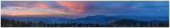 Moon rises at sunset (Peter Shi (石头)) Tags: moonrise sunset clingmansdome smokymountains nationalpark cloud mountain