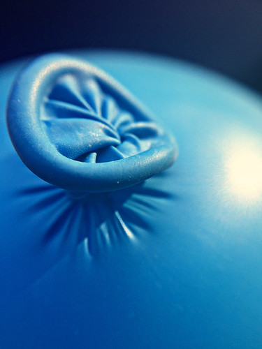 """Nobody can be uncheered with a balloon.""  ― A.A. Milne, Winnie-the-Pooh (katerha) Tags: happy10years balloon celebrate blue birthday macro ztylus macromondays"