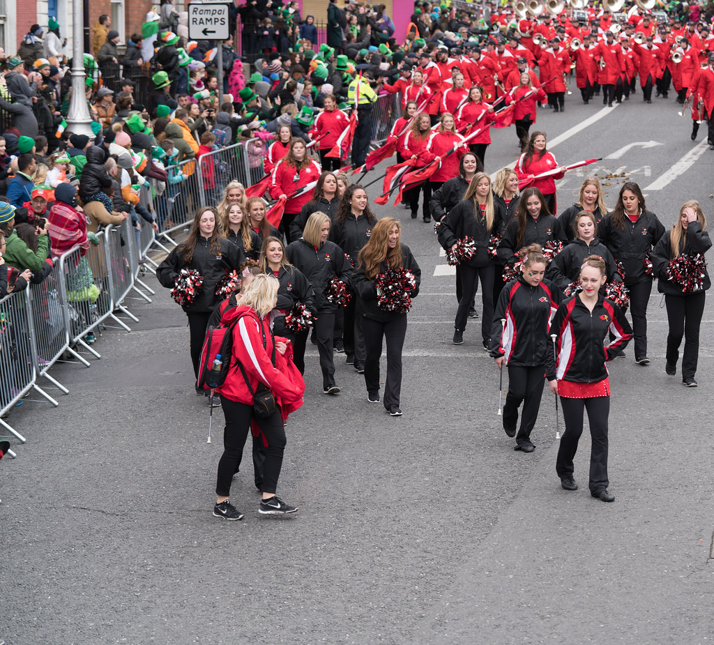 Illinois State University's Big Red Marching Machine [St. Patricks Parade 2017]-125835