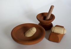 Traditional toys (shobanjayaraj) Tags: photochallenge simple clean background 2017 week16 traditional south indian toys mortar pestle