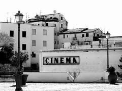 Cinema - Sperlonga, Italy (Michele Ginolfi) Tags: sperlonga cinema ubran city buildings houses bw black white text blackandwhite italy
