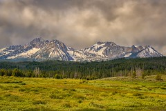 Sawtooth Squall (Philip Kuntz) Tags: sawtooths sawtoothmountains storm stormy stormysawtooths meadow stormfront stanley idaho