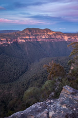 Mt Banks (robertdownie) Tags: trees forest mountains river blue rock bush valley world new australia lookdown cliffs sandstone south wilderness wales heritage nsw remote gorge banks anvil grose pearces