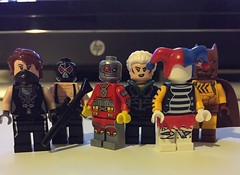 DC's Secret Six (Numbuh1Nerd) Tags: lego purist custom superheroes villains supervillains scandal savage bane deadshot jeanette ragdoll catman gail simone