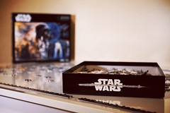 Project for the Kids (canaanbarger) Tags: starwars puzzle kids fun playing game sony a7sii inside indoor
