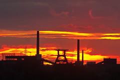 Zollverein Sunset (uwe1904) Tags: bergbau deutschland essen himmel industriekultur pentaxk5 ruhrpott sonnenuntergang stadtlandschaft uwerudowitz zeche zechezollverein zollverein nrw d