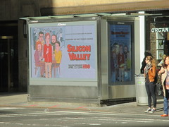 Silicon Valley Show Billboard - Daniel Clowes Cartoon Design 4209 (Brechtbug) Tags: silicon valley hbo show electronic billboard newspaper magazine newsstand news paper monolith mobile telephone phones springtime new york 2017 april 04102017 taxi cab sunny 44th street 7th ave near times square nyc pedestrians avenue st commuting shows billboards graphic novel artist daniel clowes illustration looks great art technology fueling station electricity power cartoon caricature cartoons