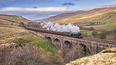 Return Scotsman (4486Merlin) Tags: 60103 buildings cumbria england europe exlner flyingscotsman lnerclassa3 northwest railways settlecarlislesc steam transport unitedkingdom viaduct aisgill gbr settlecarlislereopening kwvr wcrc