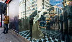 Masked Dancing (stevedexteruk) Tags: fifty shades darker harmony adult store shop window display 2017 dancing mannequin mannequins london w1 city westminster uk reflection reflections oxfordstreet