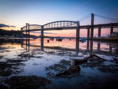 103 Years (Timothy Gilbert) Tags: rivertamar panasonic1235mmf28x sunset royalalbertbridge saltash panasonic plymouth tamar devon gx8 cornwall tamarbridge