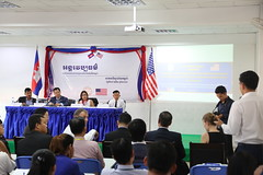 """The University of Cambodia - UC officially inaugurated the new """"United States of America Room"""" in a ceremony featuring Ambassador and Mrs. Heidt and UC President Dr. Kao Kim Hourn, who has a Ph.D. in political science from the University of Hawaii. (USEmbassyPhnomPenh) Tags: women open discussion forum crosscultural academic program platform discuss panel opinions panelists attendees understanding questions engaging motivating"""