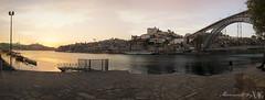 Atardecer en Oporto (Moments by Xag) Tags: panoramica panoramic paisaje atardecer sunset river rio brigde puente ciudad city landscape porto portugal oporto nikon d610 16300 xag momentsbyxag