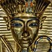 Closeup of the face on King Tutankhamun's first inner coffin New Kingdom 18th Dynasty Egypt 1332-1323 BCE (2)